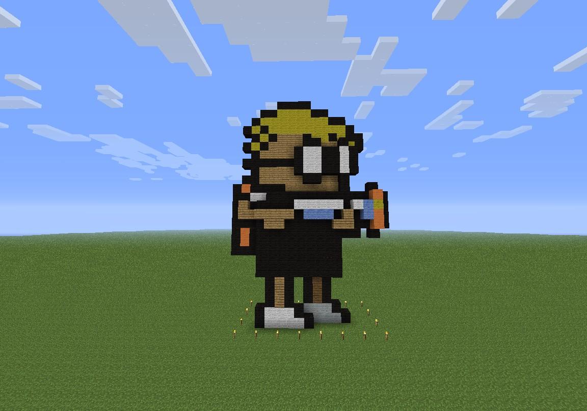 Mutant Mudds 3d Sprite Minecraft Project