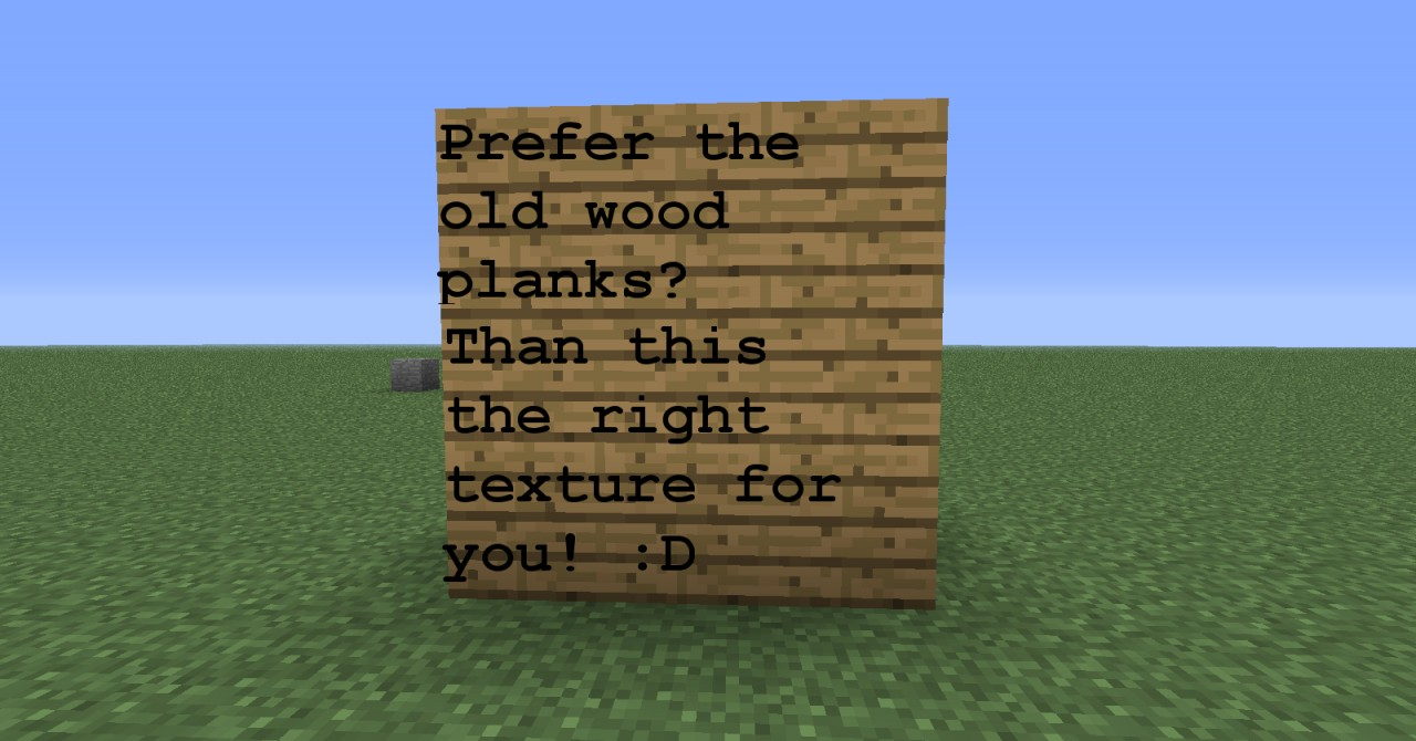 Screw the new wood! 1.2.4 (For people who don't like the ...