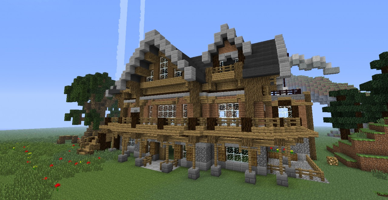 wooden mansion minecraft project