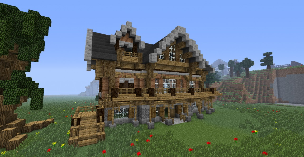 mincraft how to build big wooden house