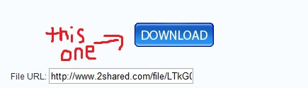 Using Download link, This is the correct looking button. (Others are ads)