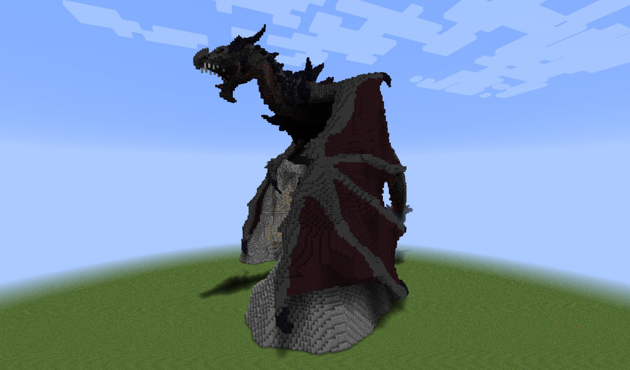 Alduin Dragon From Skyrim In Minecraft Project