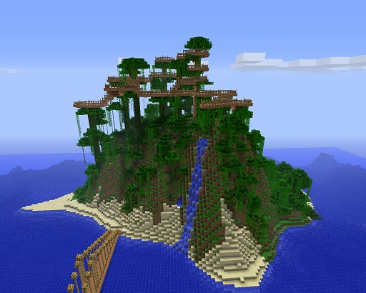 Minecraft    Jungle Island Seed