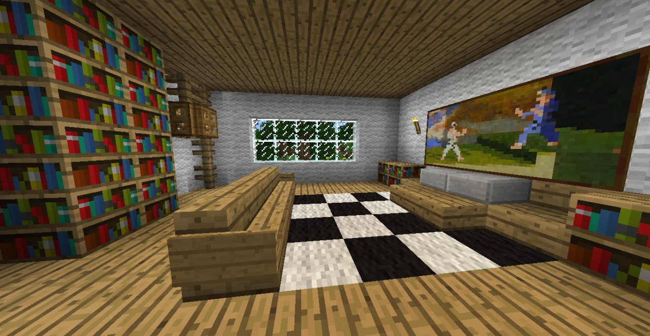 Wool manision minecraft project for A living room in minecraft
