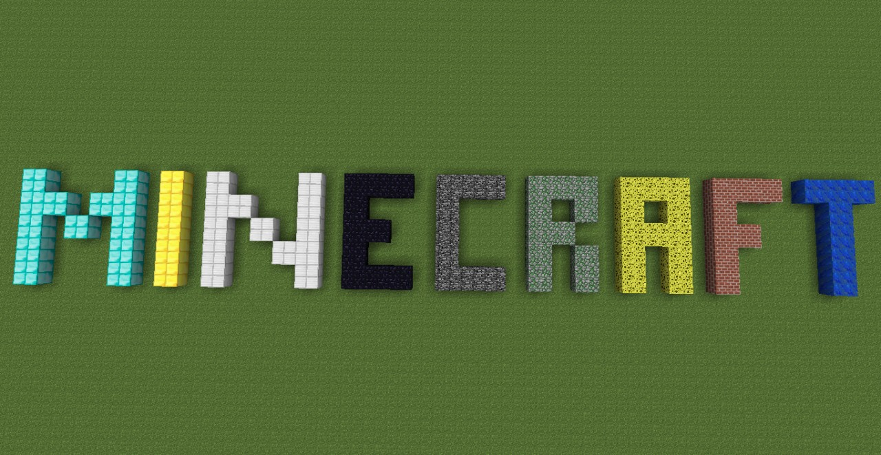 edited minecraft logo minecraft project
