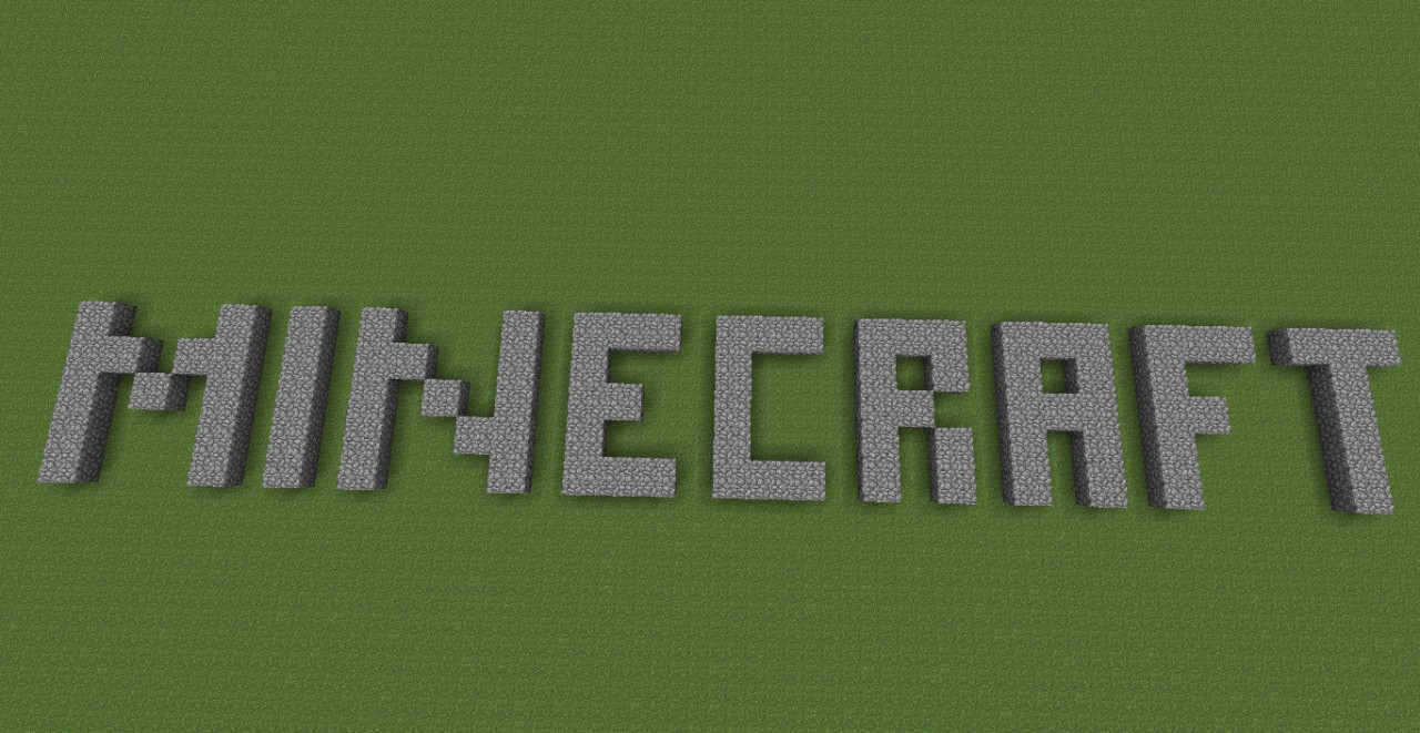 Original Minecraft Logo Minecraft Project