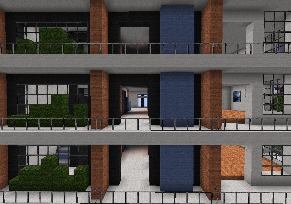 Modern Apartments Ocean Wave Minecraft Project
