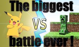 Pikachu vs. Creeper ! Who would win ? Minecraft Blog