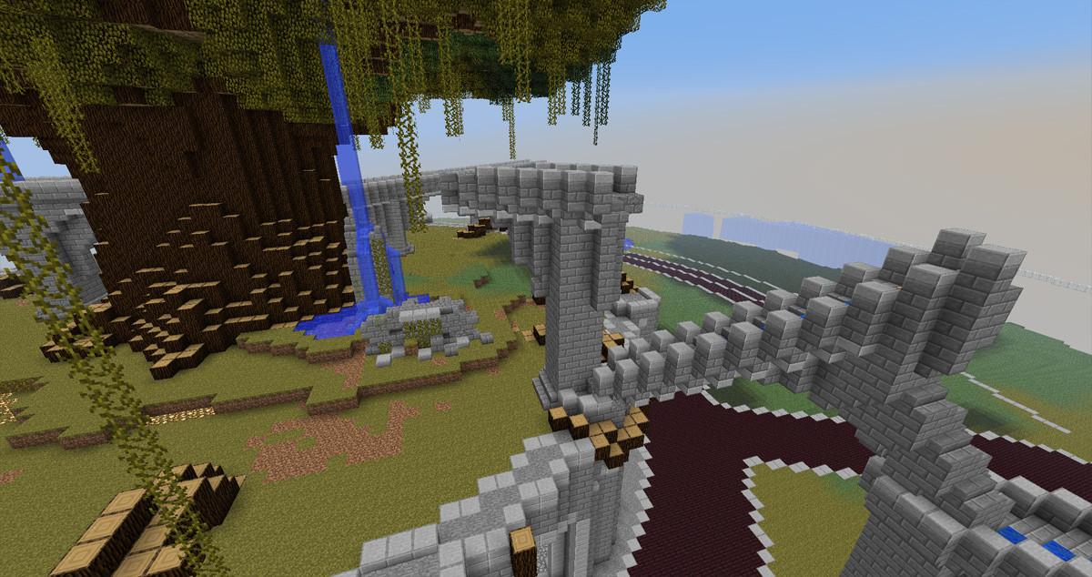 A collapsed aqueduct.