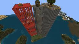 Red Double-Skyscraper [kaguBe-Survival] Minecraft