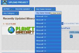 [Suggestion] Game Version Category for Projects Minecraft Blog