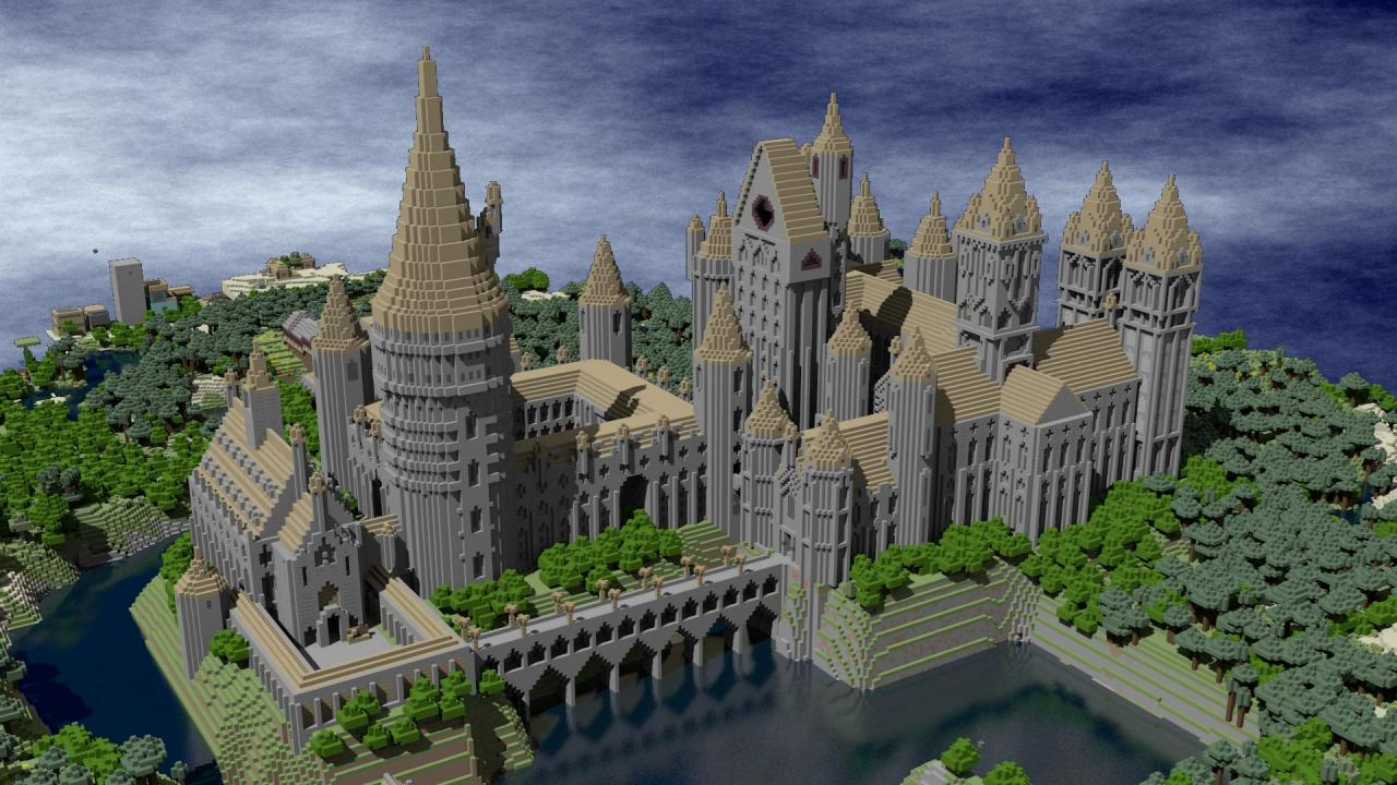 Render of Hogwarts by Breatheasy