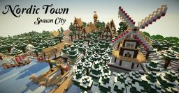Nordic Town - Skyrim Inspired (with download!) Minecraft Map & Project