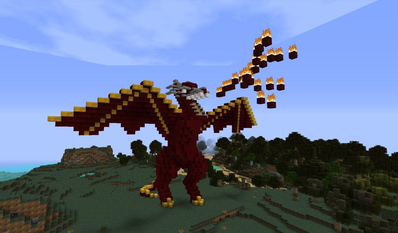 Minecraft Baby Dragon Build