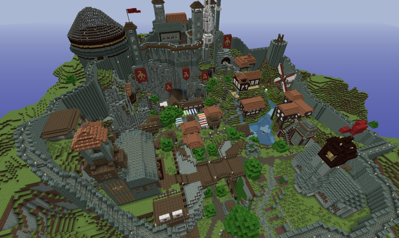 Minecraft Timelapse Medieval Village Minecraft Project
