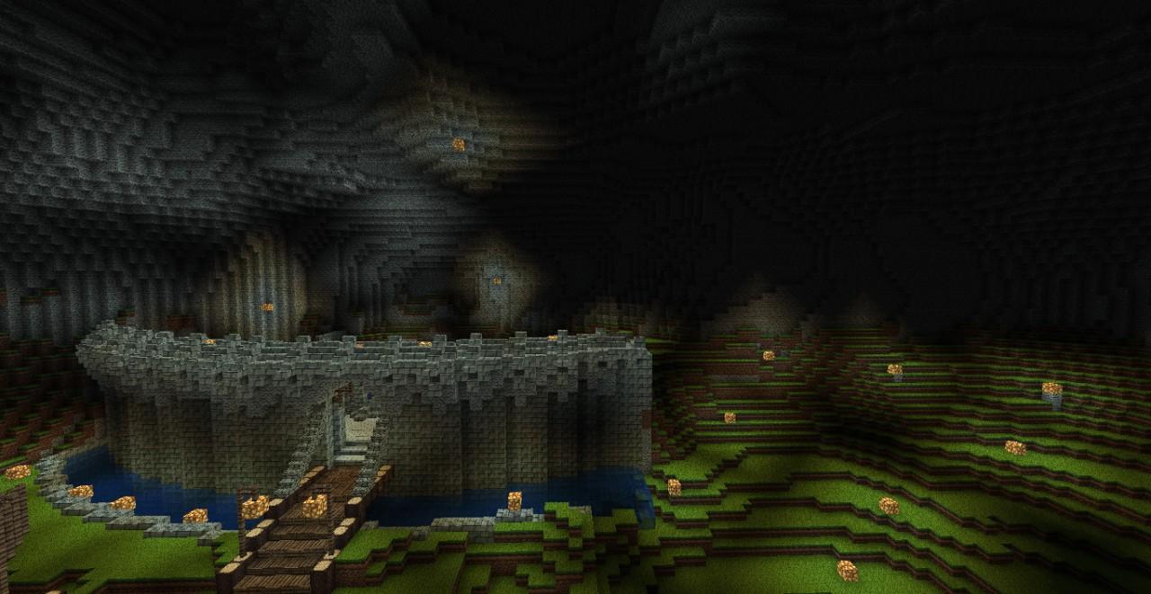 код в майнкрафт на подземную шахту #6