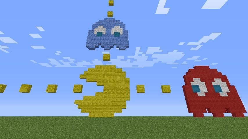 Pacman Pixel Art Minecraft Project