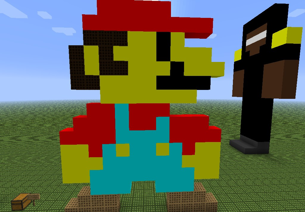 how to make cool pixel art in minecraft