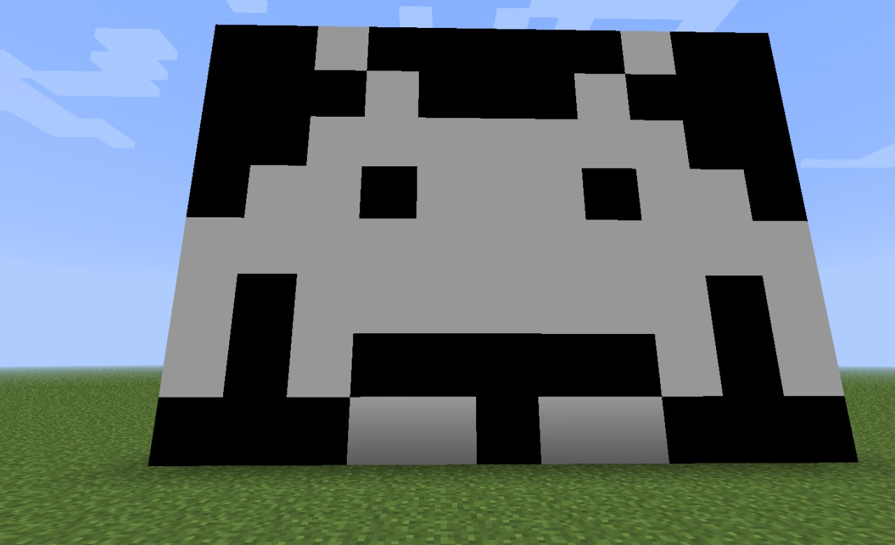 Space Invaders/Galaga Minecraft