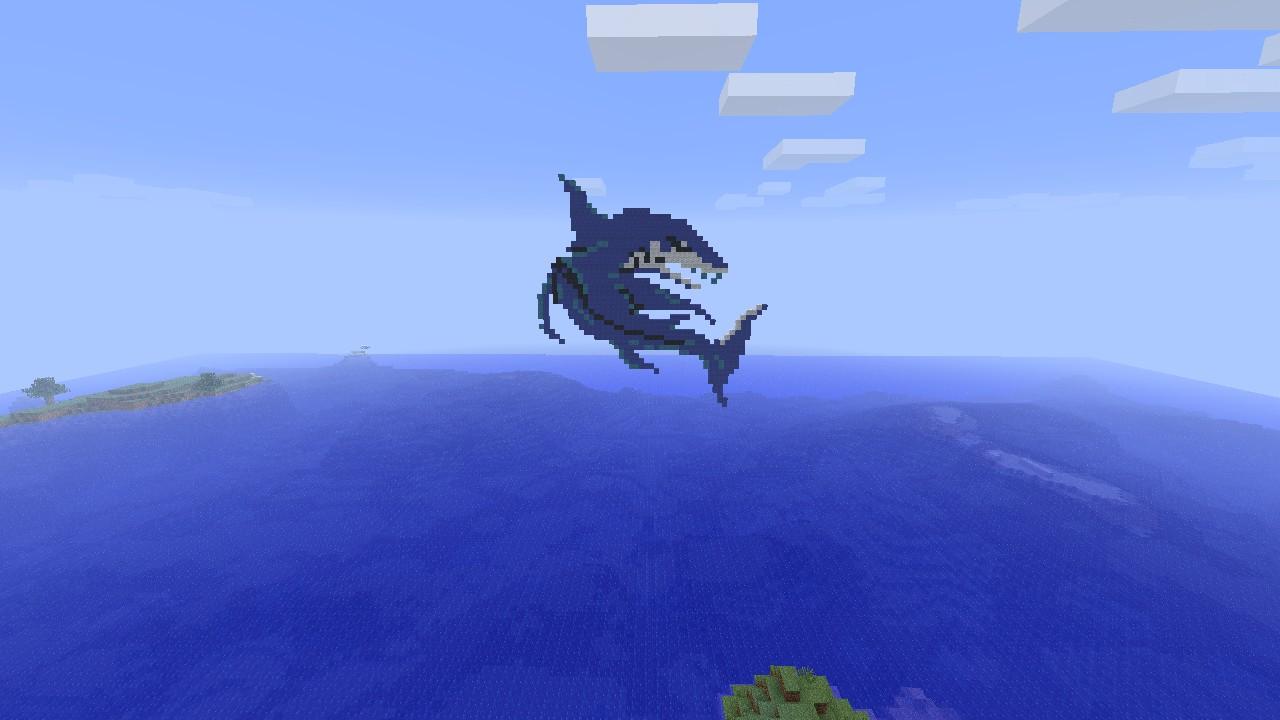 Final Fantasy Minecraft Pixel Art