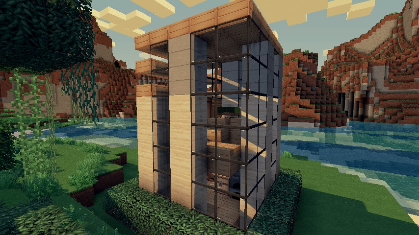 X House Inspired By Keralis Minecraft Project - Minecraft modern house 5x5