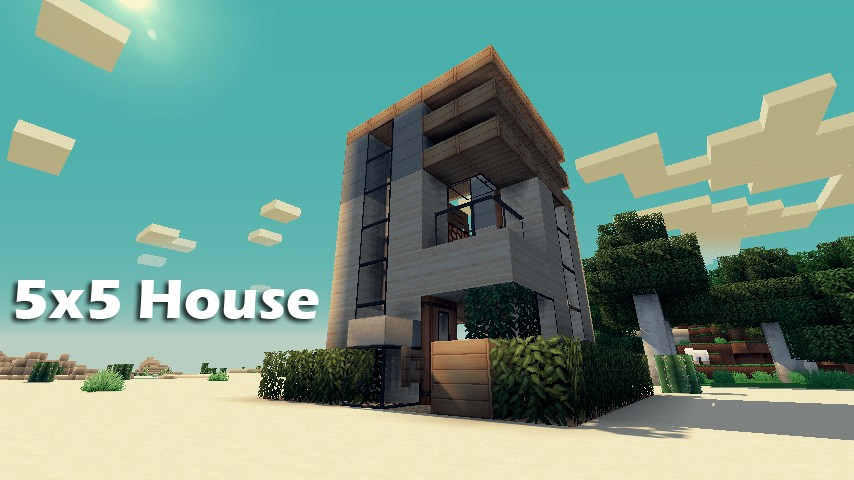 5x5 House -Inspired by Keralis- Minecraft Project