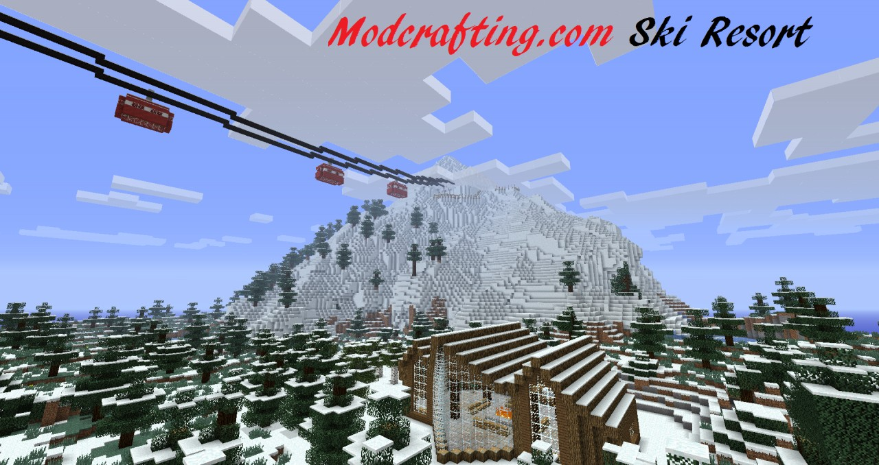 Ski resort minecraft project for Ski designhotel
