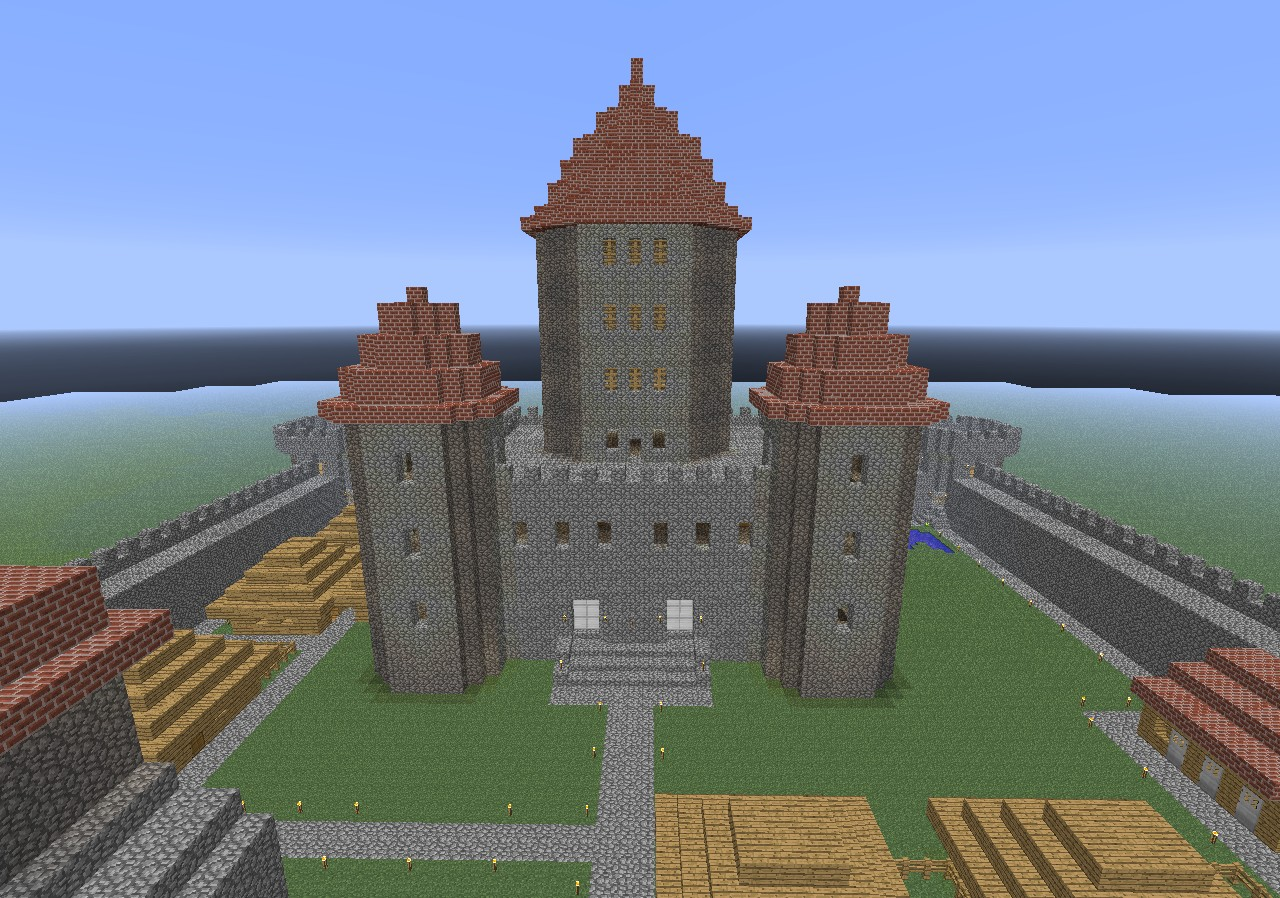 how to make a automatic castle door open in minecraft