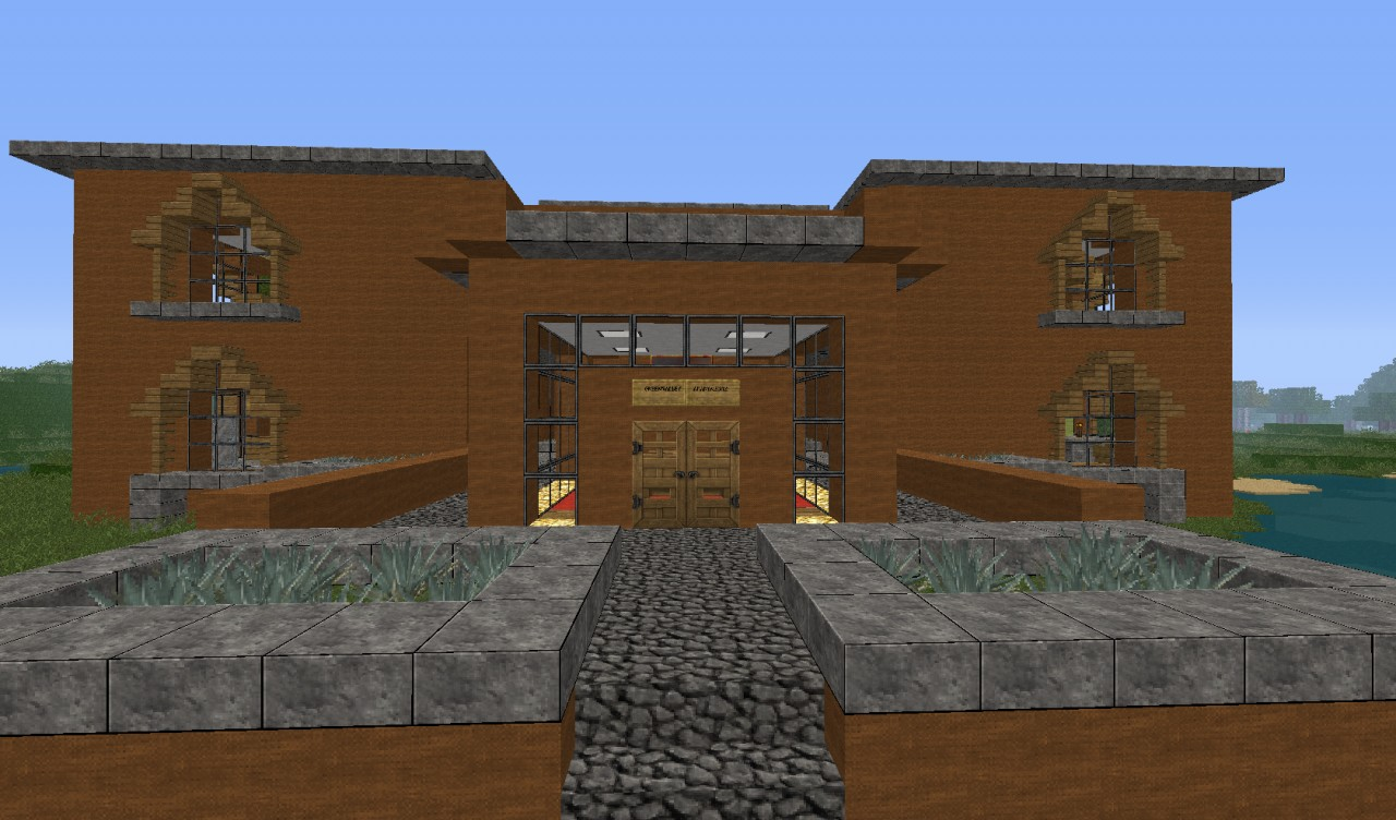 Modern apartment complex minecraft project Blueprint of apartment building