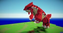 Giant 3D Pixel art Groudon Minecraft