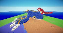 Gaint 3D Kyogre Pixel Art Minecraft Map & Project