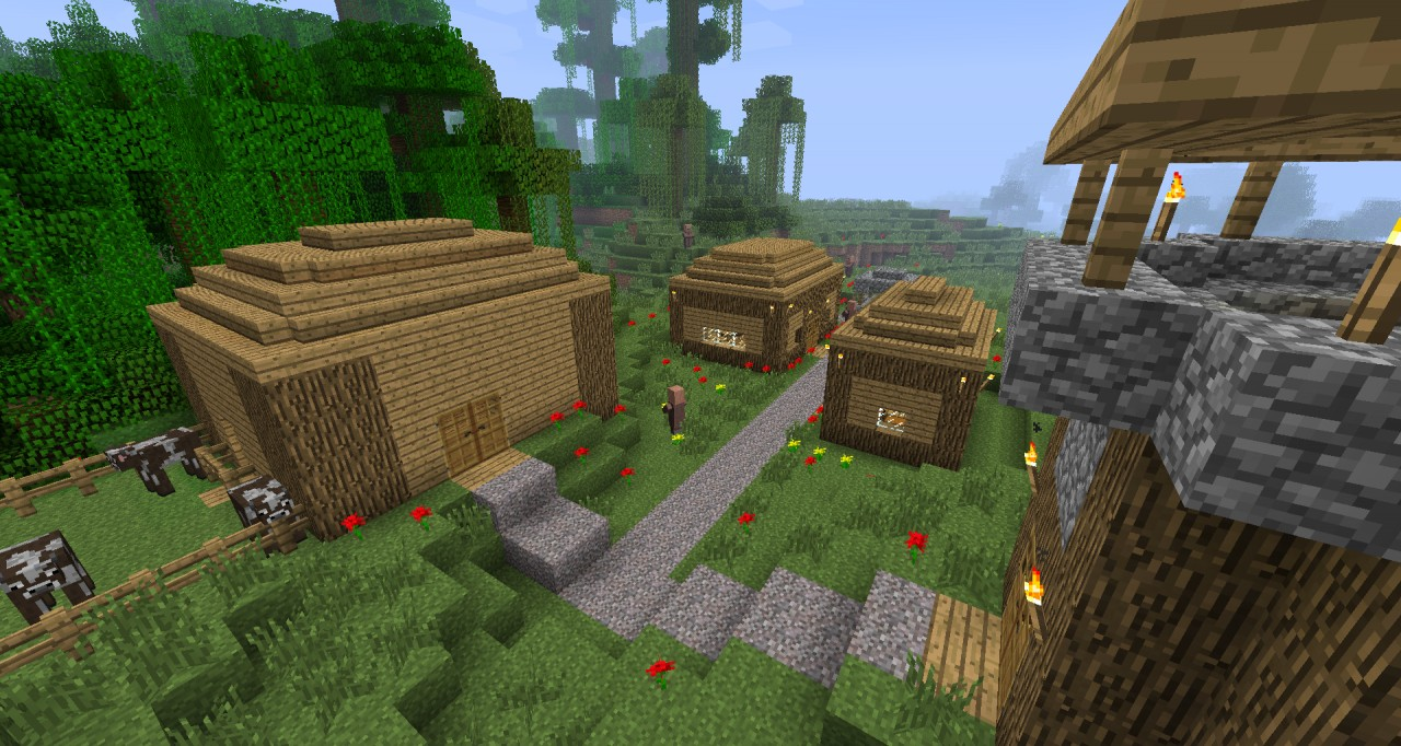 jungle village survival map Minecraft Project