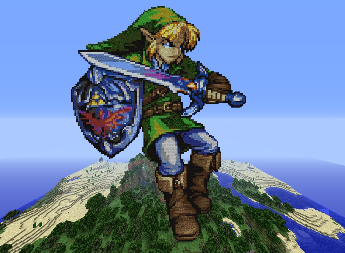 Link The Ultimate Hero The Ultimate Pixel Art Minecraft Map