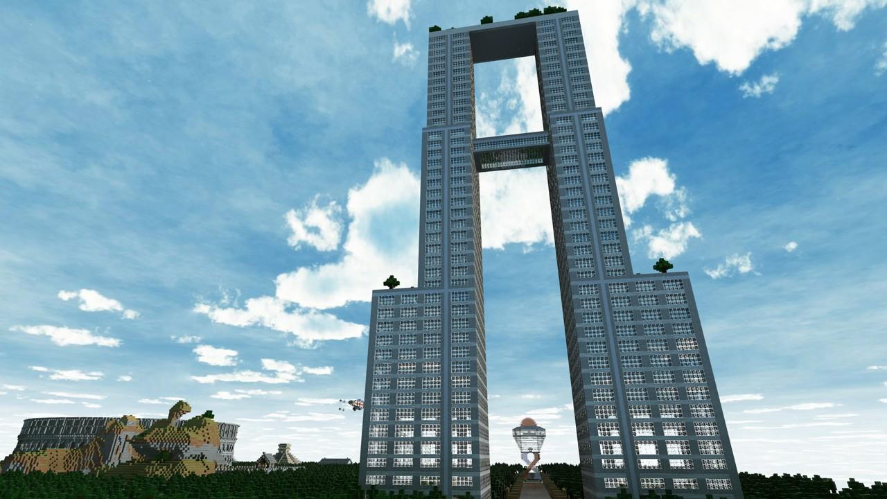 Modern double skyscraper minecraft project - Minecraft hochhaus ...