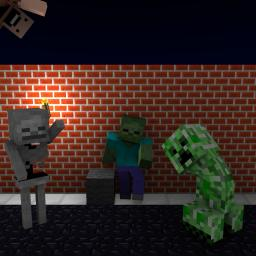 Mob party! Minecraft