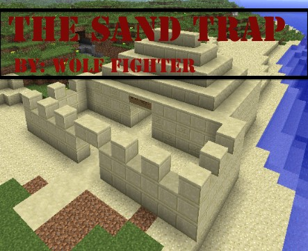 how to make a sand fall trap in minecraft