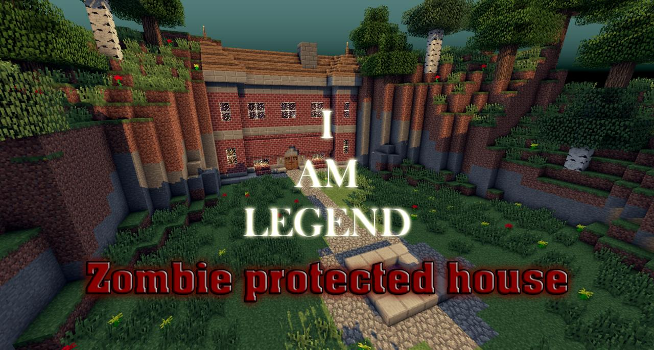 zombie protected house inspired by i am legend minecraft project. Black Bedroom Furniture Sets. Home Design Ideas