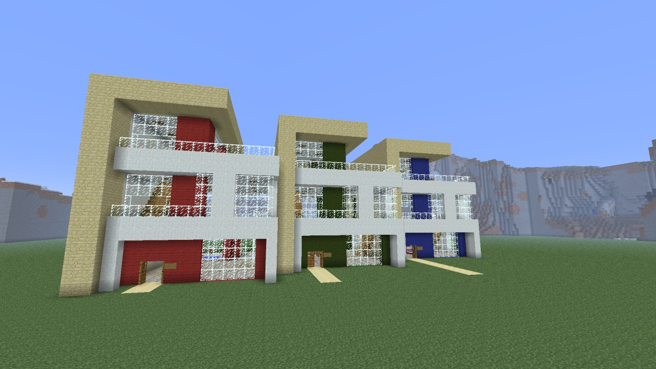 Modern terraced house project minecraft project for Modern house projects