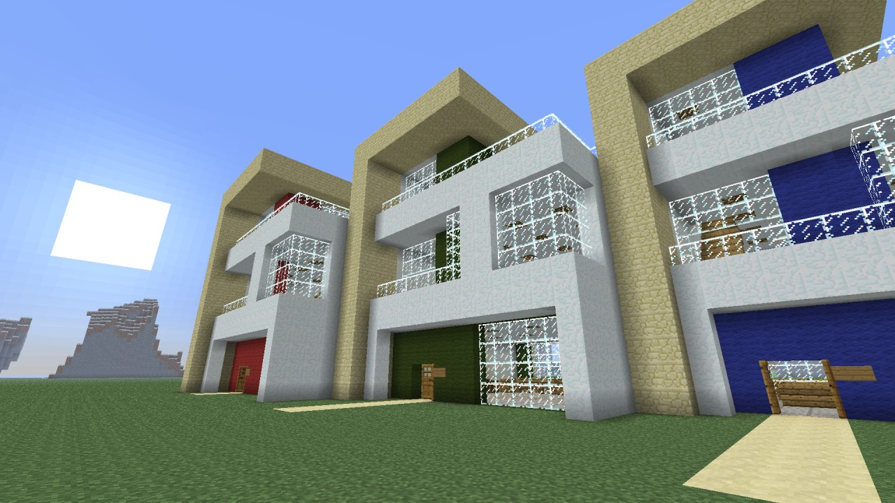 Modern terraced house project minecraft project for Project house