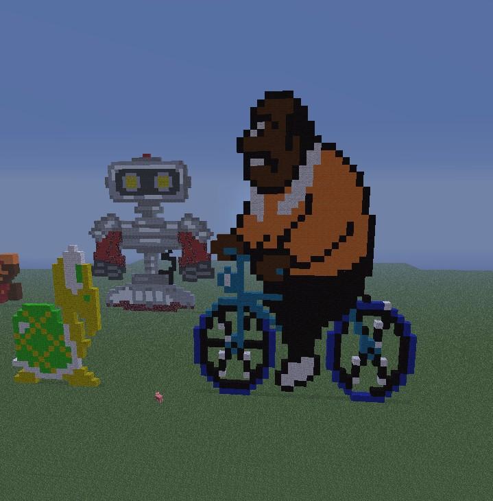 skrillex logo pixel art Minecraft Project
