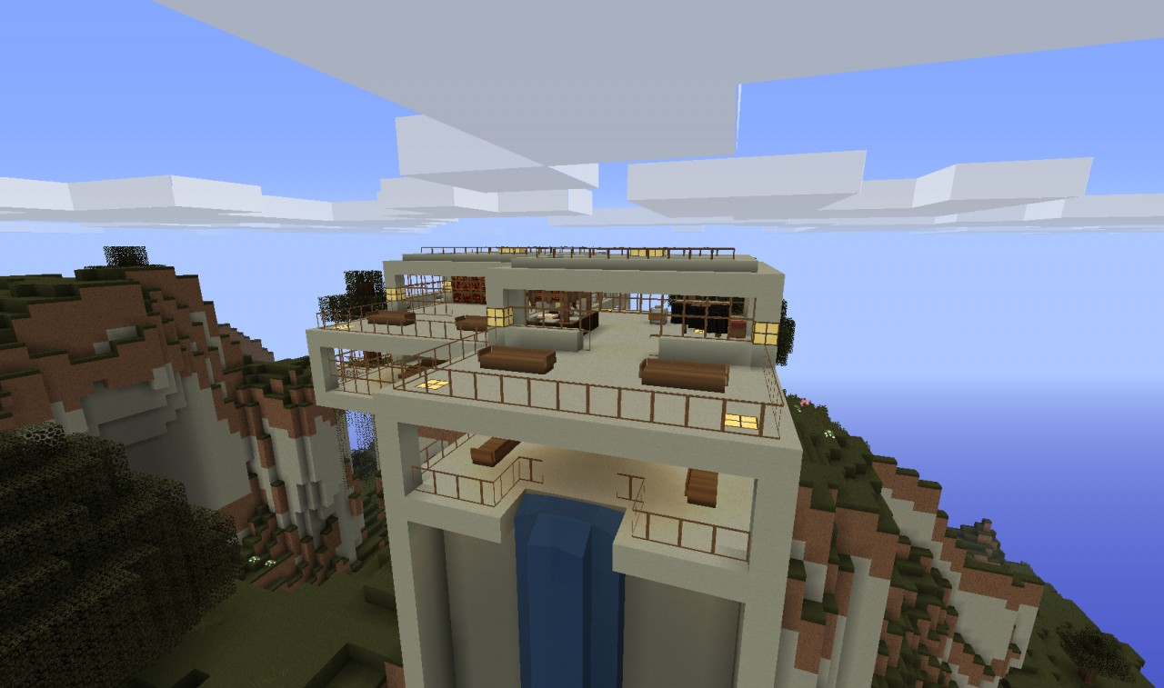 UPDATE Modern Hill top House Minecraft Project