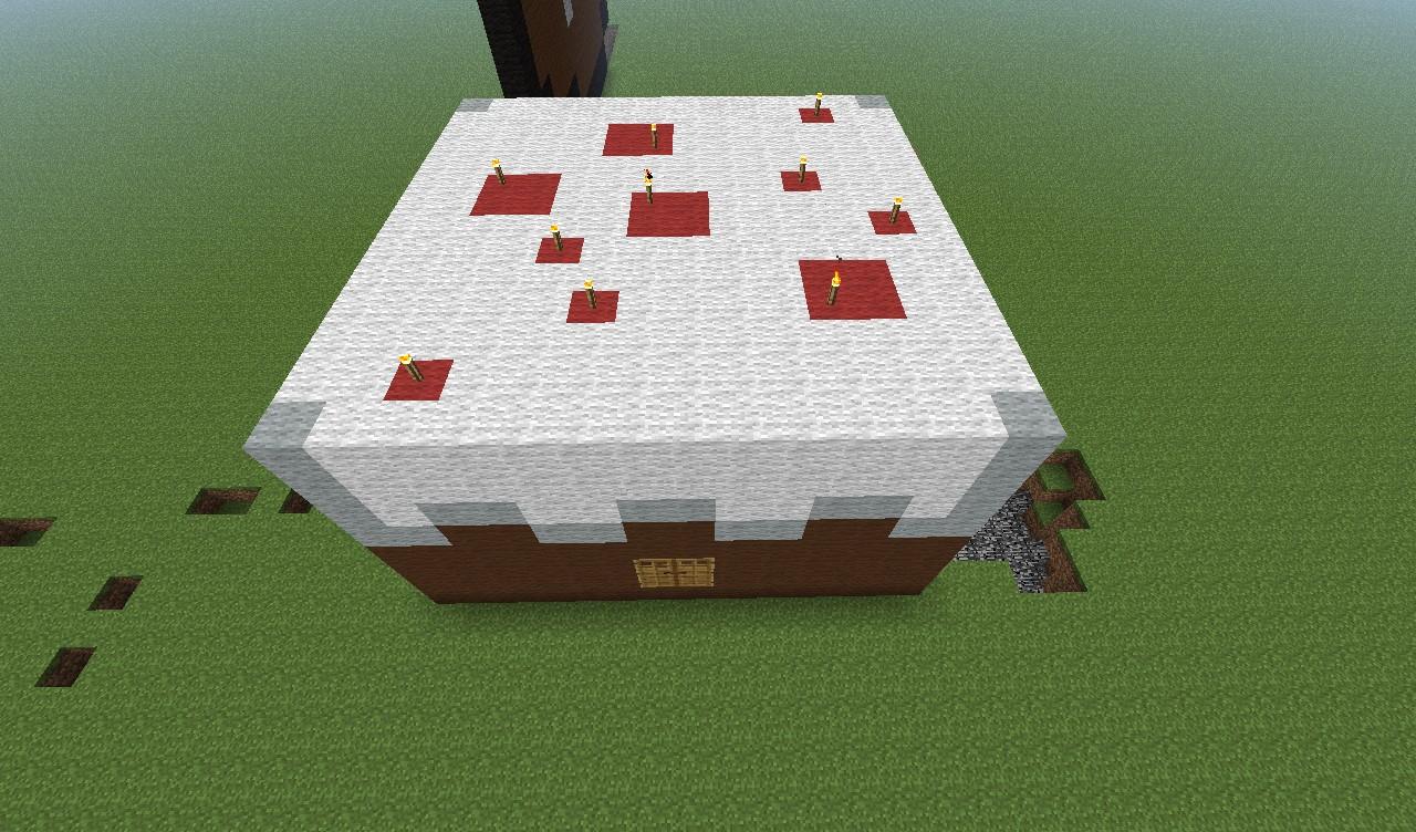 3D Birthday Cake Minecraft Project