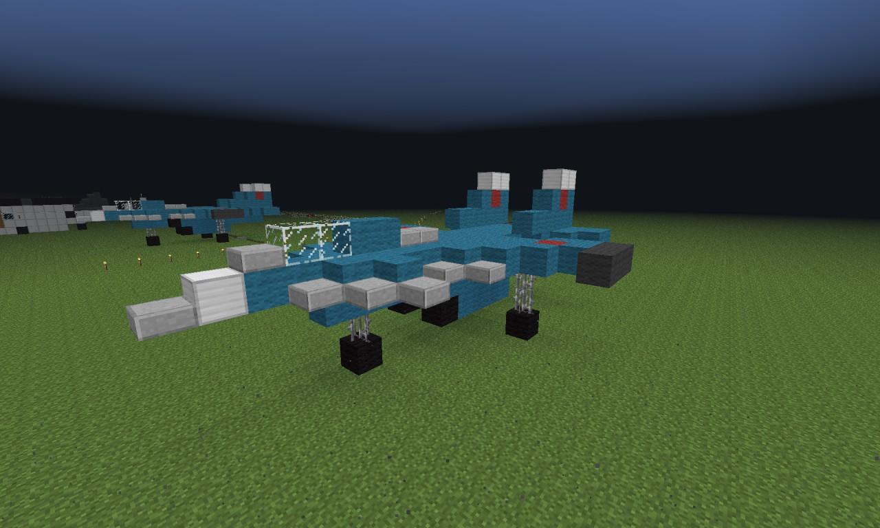 Jet Privato Minecraft : Sukhoi su fighter jet prototype minecraft project