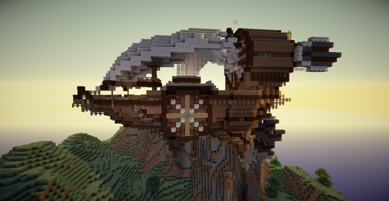 how to build an airship minecraft