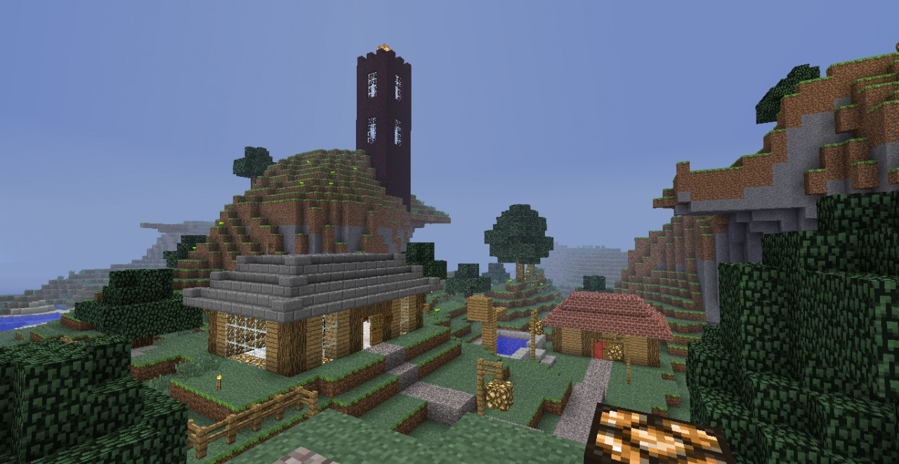 Mountain Village Minecraft