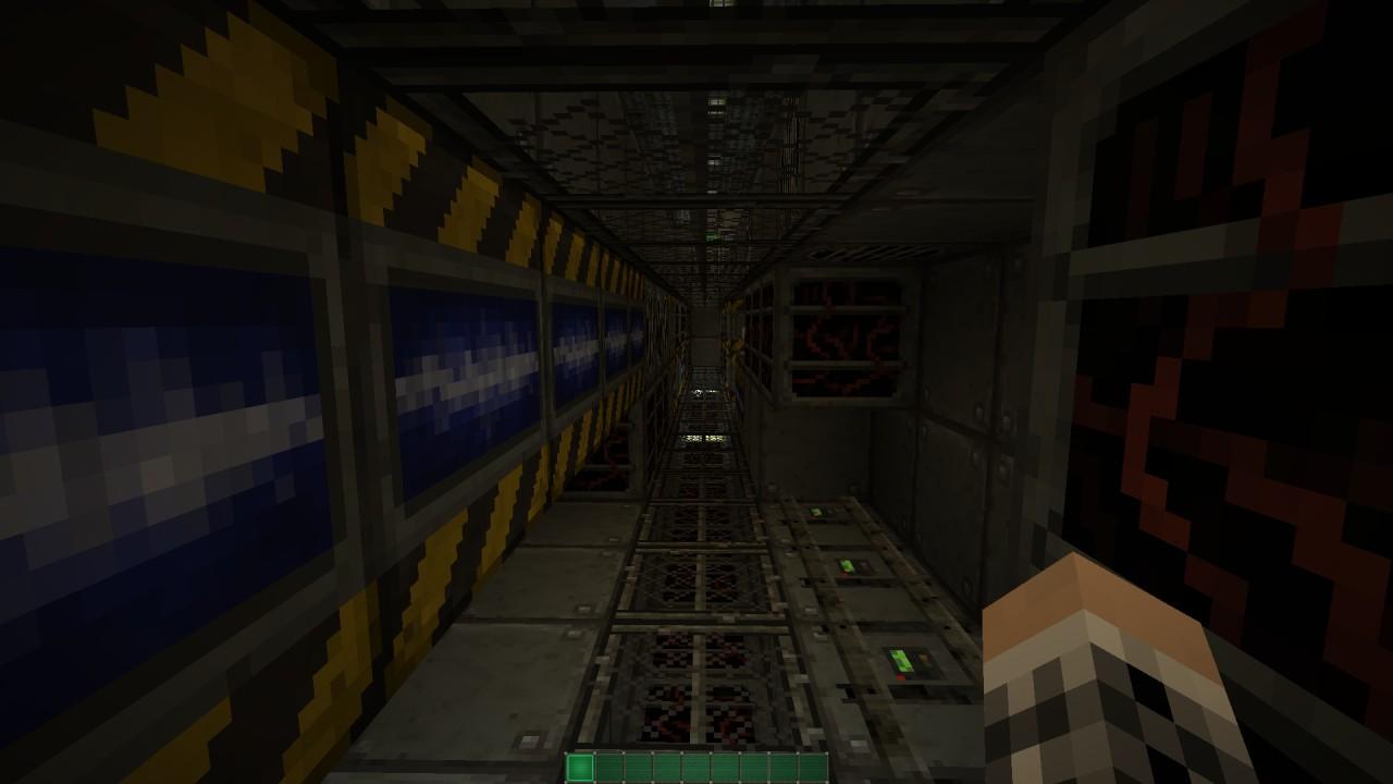Engineer walkway running underneath the corridor