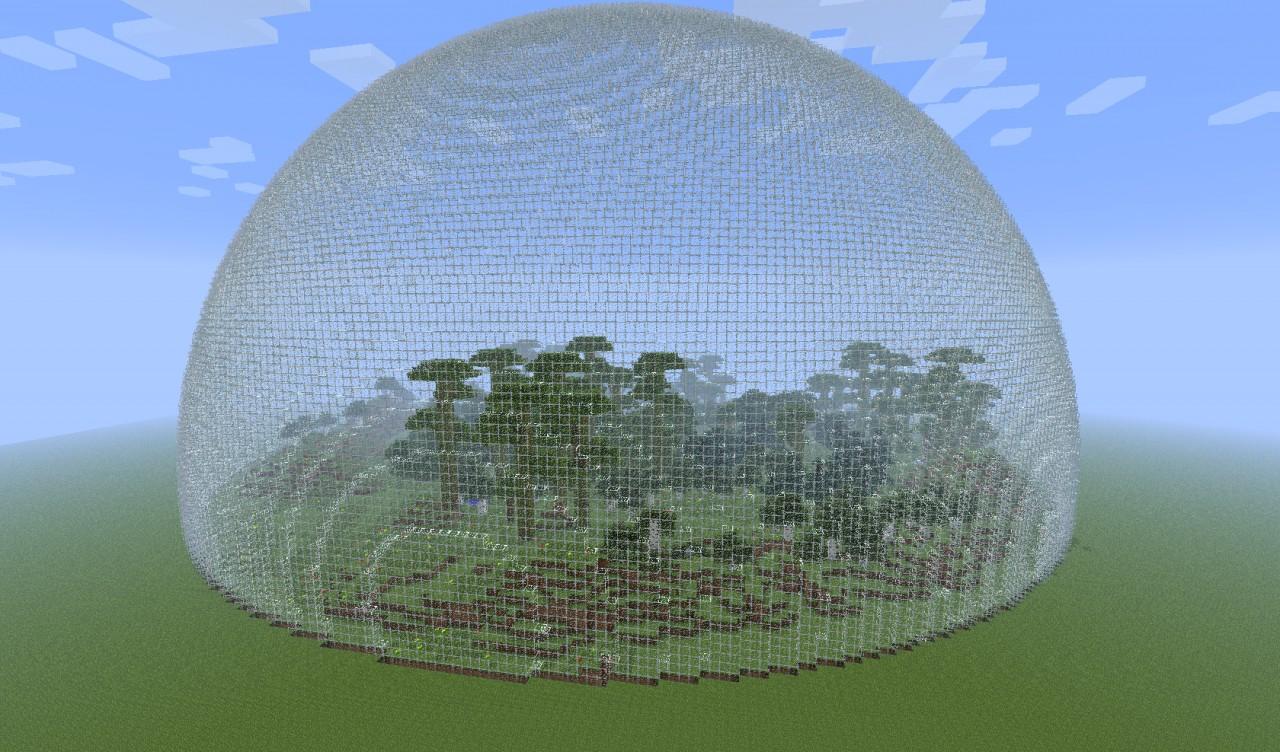 как сделать купол в майнкрафт #2