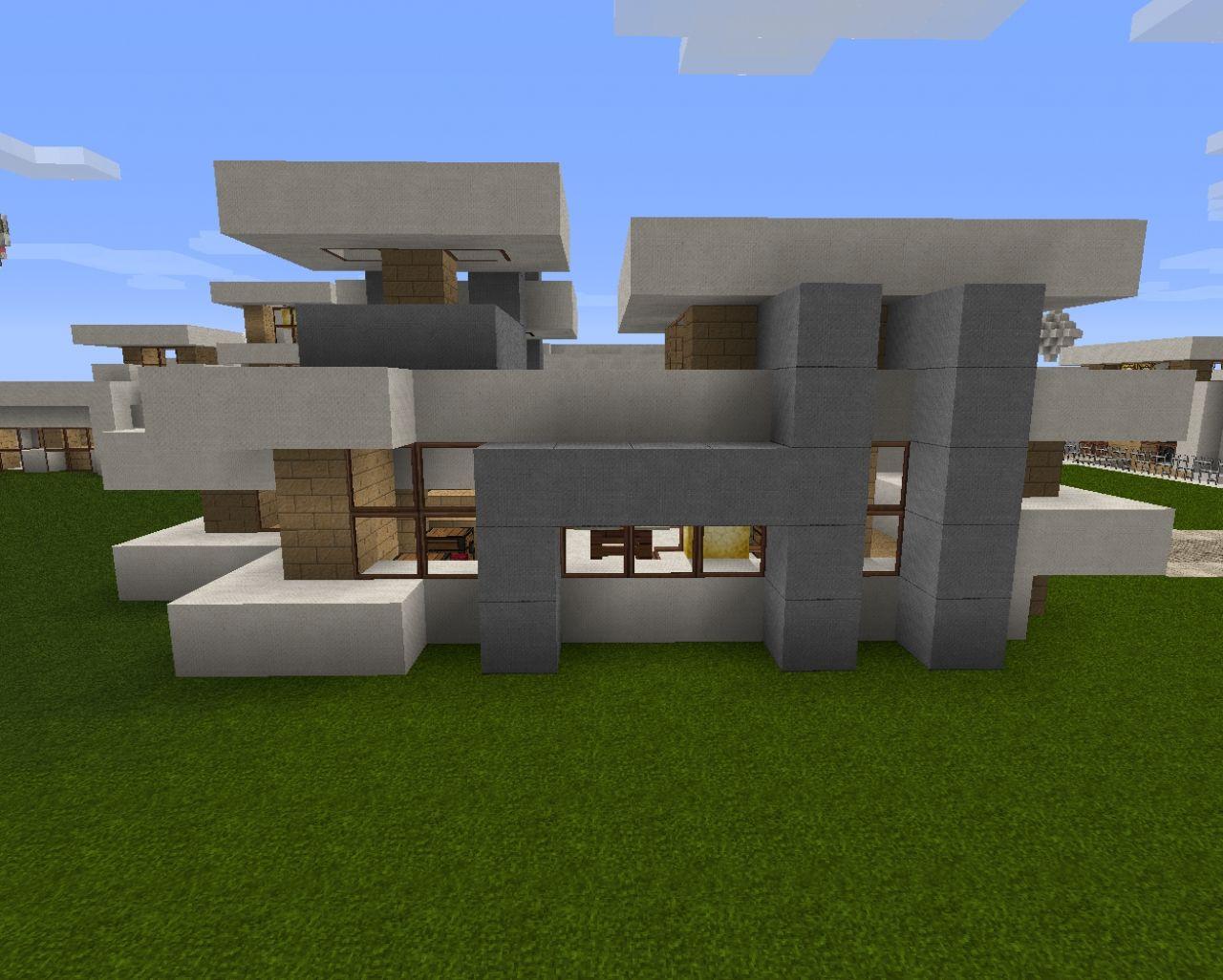 Modern house 25 houses bonus amazing design for Amazing modern houses minecraft