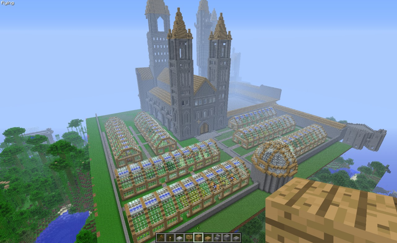 how to build hogwarts in minecraft pe step by step
