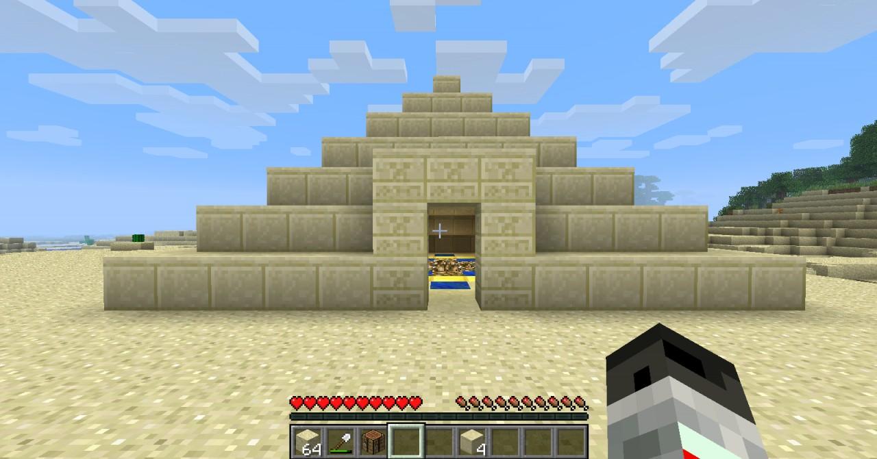 Pyramid Houses Nice Sandstone Pyramid House 125 Minecraft Project